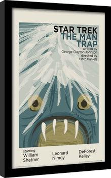 Star Trek - The Man Trap oprawiony plakat