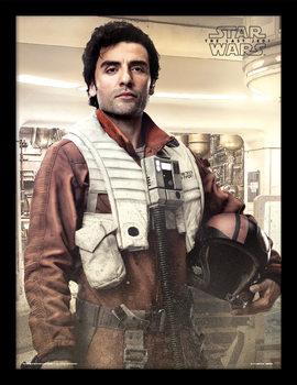 Star Wars: Poslední Jediovia- Poe Battle Ready Zarámovaný plagát
