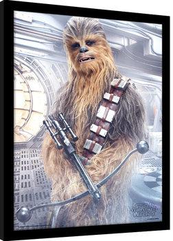 Star Wars: Poslední z Jediů - Chewbacca Bowcaster zarámovaný plakát