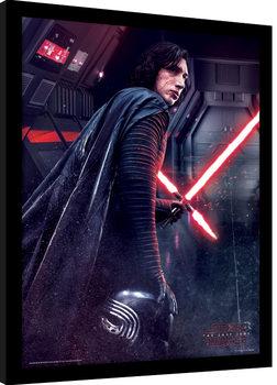 Star Wars: Poslední z Jediů - Kylo Ren Rage zarámovaný plakát