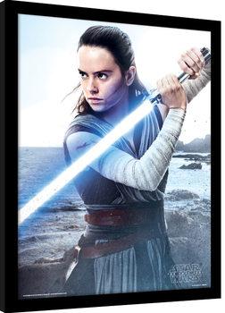 Star Wars: Poslední z Jediů - Rey Engage zarámovaný plakát