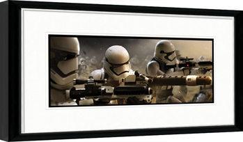 Star Wars VII: Síla se probouzí - Stormtrooper Trench zarámovaný plakát