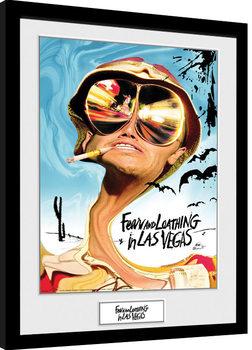 Strach a hnus v Las Vegas - Key Art zarámovaný plakát