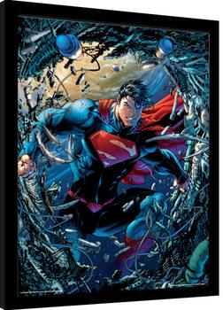 Superman - Unchained zarámovaný plakát