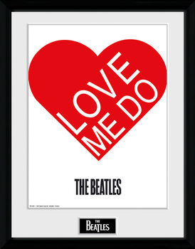 The Beatles - Love Me Do zarámovaný plakát