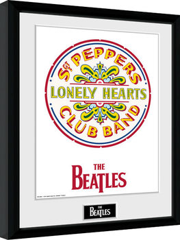 The Beatles - Sgt Pepper oprawiony plakat