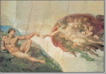 The Creation of Adam Obrazová reprodukcia