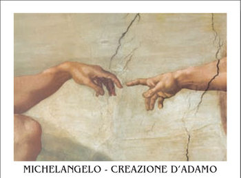 The Creation of Adam (Part) Obrazová reprodukcia