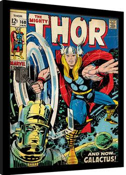 Thor - Galactus zarámovaný plakát