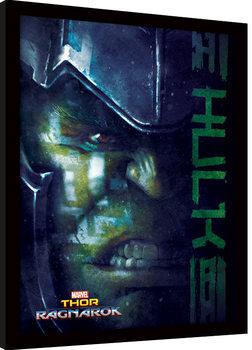 Thor Ragnarok - Hulk zarámovaný plakát