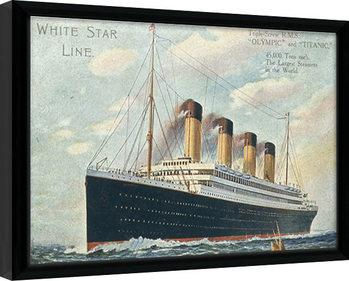 Titanic zarámovaný plakát