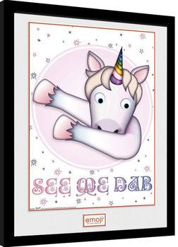 Unicorn - Emoji oprawiony plakat