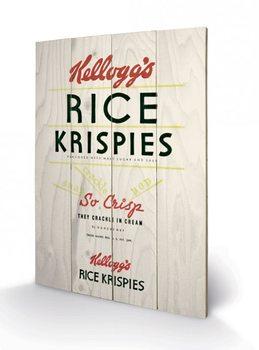 Obraz na drewnie VINTAGE KELLOGGS - rise krispies