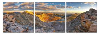 Obraz  Východ slunce nad horami