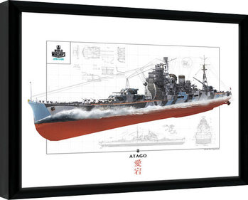 World Of Warships - Atago oprawiony plakat