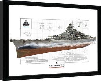 World Of Warships - Bismark oprawiony plakat
