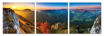 Obraz Západ slunce v kopcích