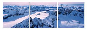 Obraz  Zasněžené pohoří