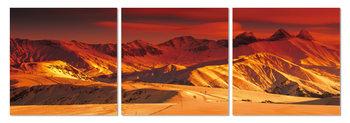 Obraz  Zlatá záře nad pohořím