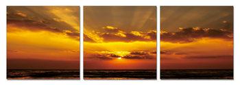 Obraz  Zlatý západ slunce