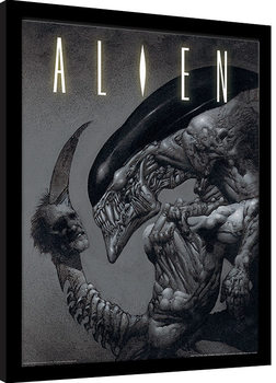 Oprawiony plakat Aliens - Head on Tail