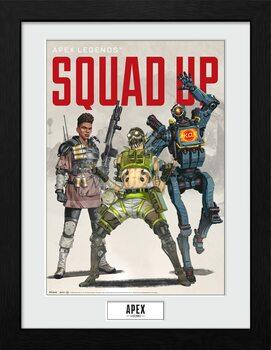 Oprawiony plakat Apex Legends - Squad Up