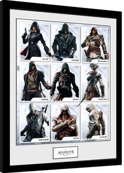 Zarámovaný plakát Assassins Creed - Compilation Characters