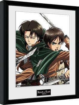 Zarámovaný plakát Attack On Titan - Levi