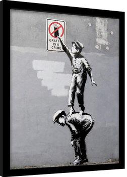 Zarámovaný plakát Banksy - Grafitti