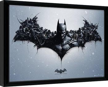 Zarámovaný plakát Batman: Arkham Origins - Logo