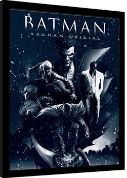 Oprawiony plakat Batman: Arkham Origins - Montage