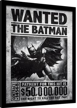 Zarámovaný plakát Batman: Arkham Origins - Wanted