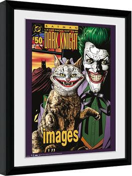 Zarámovaný plakát Batman Comic - Joker Cat