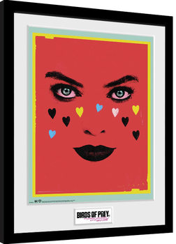 Zarámovaný plakát Birds Of Prey: Podivuhodná proměna Harley Quinn - Face