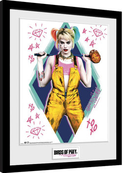 Zarámovaný plakát Birds Of Prey: Podivuhodná proměna Harley Quinn - Harley Quinn