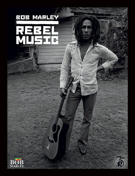 Zarámovaný plakát Bob Marley - Rebel Music