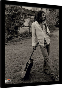 Zarámovaný plakát Bob Marley - Vintage