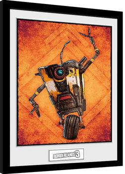Zarámovaný plakát Borderlands 3 - Claptrap