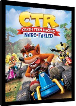Oprawiony plakat Crash Team Racing - Race