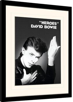 Zarámovaný plakát David Bowie - Heroes