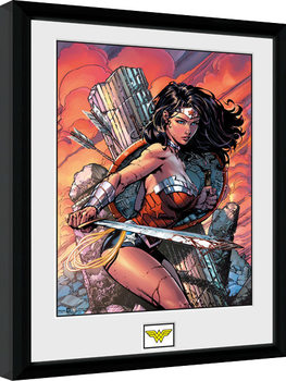 Oprawiony plakat DC Comics - Wonder Woman Sword