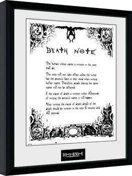 Oprawiony plakat Death Note - Death Note