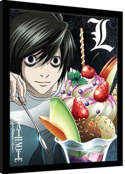 Oprawiony plakat Death Note - L Ice Cream