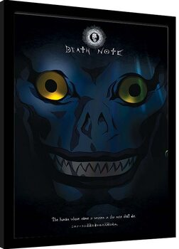 Oprawiony plakat Death Note - Ryuk Shadow