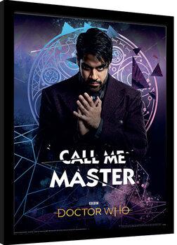 Zarámovaný plakát Doctor Who - Call Me Master