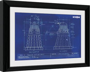 Zarámovaný plakát Doctor Who - Dalek Blueprint