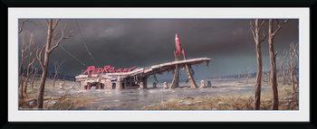 Oprawiony plakat Fallout 4 - Red Rocket