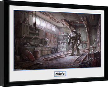 Oprawiony plakat Fallout 4 - Red Rocket Interior