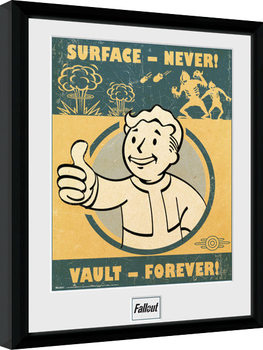 Oprawiony plakat Fallout 4 - Vault Forever