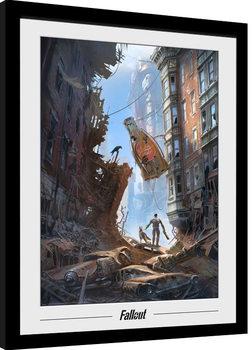 Oprawiony plakat Fallout 76 - Vault Boys